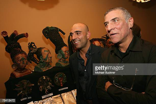 Makeup artists for 'Apocalypto' Vittorio Sodano and Aldo Signoretti attend the Oscar Makeup Symposium cocktail party at the Linwood Theatre on...