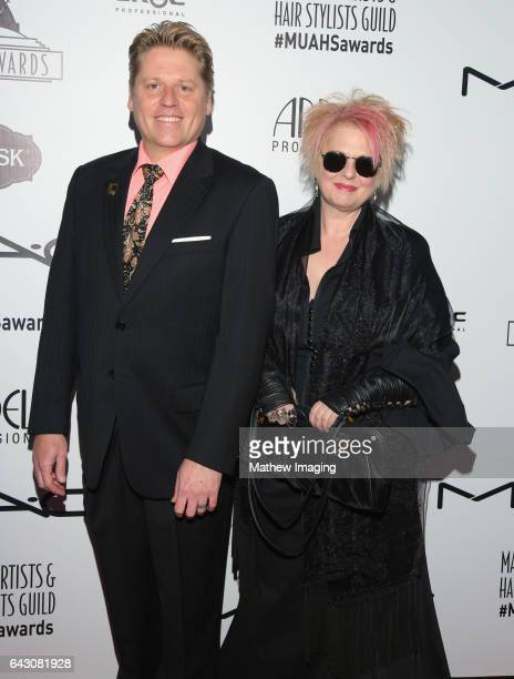 Makeup artists Ned Neidhardt and Jennifer Aspinall attend the 2017 MakeUp Artists and Hair Stylists Guild Awards at The Novo by Microsoft on February...