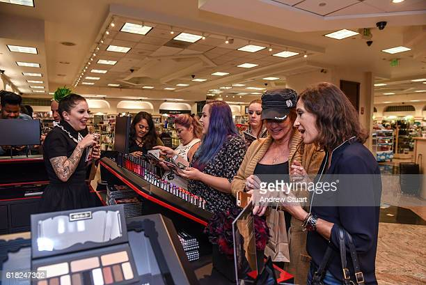 Makeup artists staff and event attendees attend the Kat Von D Beauty Launch Party at Naimie's Beauty Center on October 25 2016 in Los Angeles...