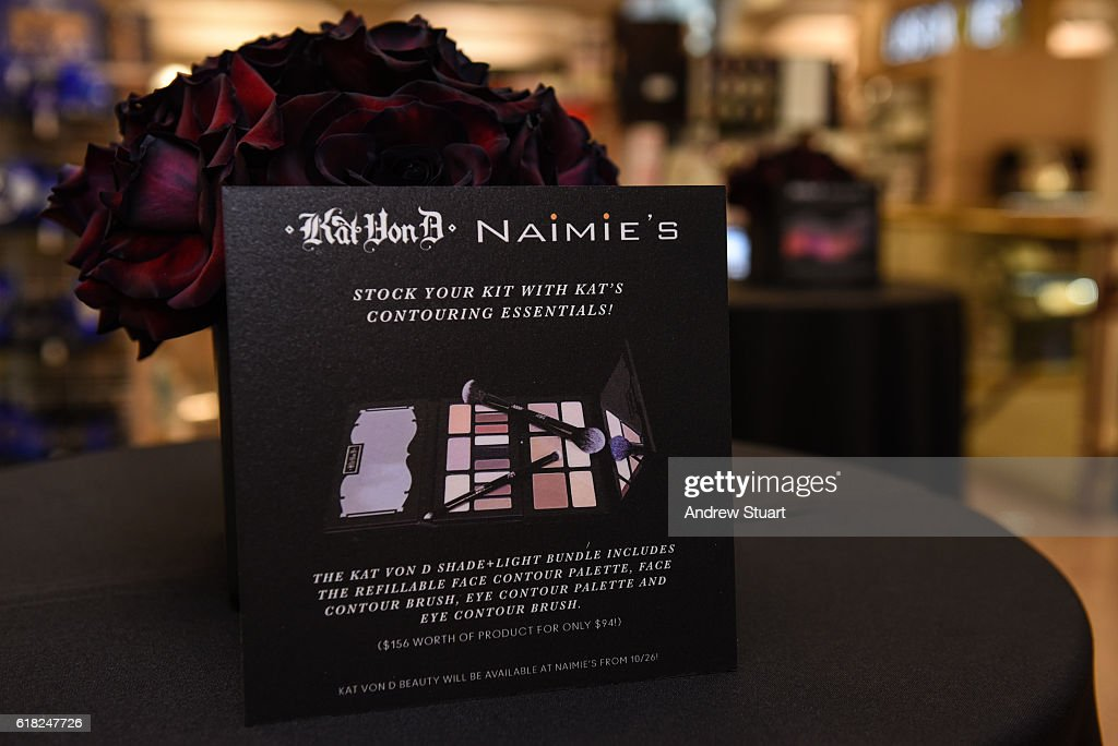 Makeup artists, staff and event attendees attend the Kat Von D Beauty Launch Party at Naimie's Beauty Center on October 25, 2016 in Los Angeles, California.