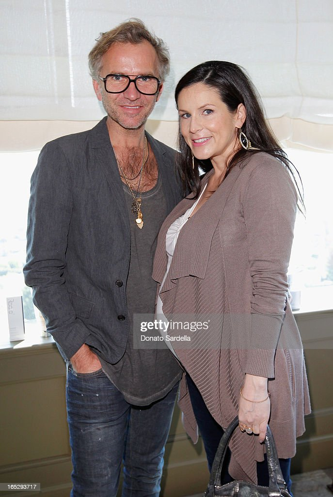 Makeup artists Torsten Witte (L) and Sarah Sullivan attend the Rodial 10th Anniversary Luncheon on April 2, 2013 in West Hollywood, California.