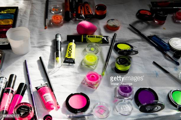 Makeup backstage prior the 1017 ALYX 9SM Menswear Spring Summer 2019 show as part of Paris Fashion Week on June 24 2018 in Paris France