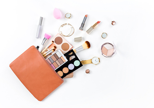 Makeup bag with cosmetic products 1133163432