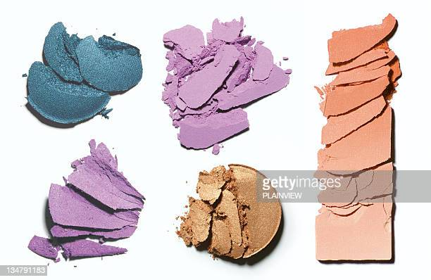 make-up crushed blush and eyeshadow - make up stock pictures, royalty-free photos & images