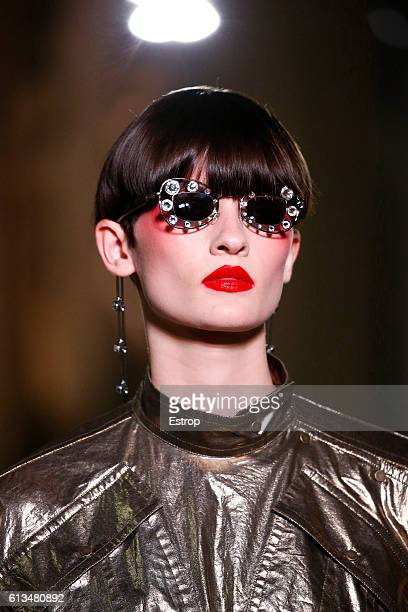 Makeup detail at the Kenzo show as part of the Paris Fashion Week Womenswear Spring/Summer 2017 on October 4 2016 in Paris France