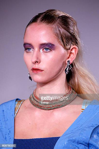 Makeup detail at the Toga show during London Fashion Week Spring/Summer collections 2017 on September 20 2016 in London United Kingdom