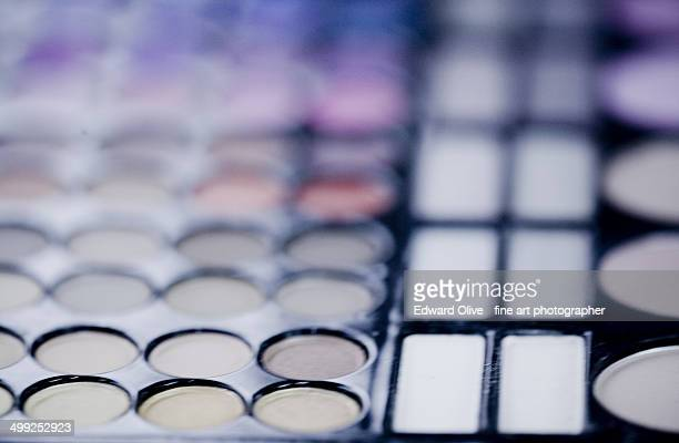 Makeup eye shadow palettte fading to blur