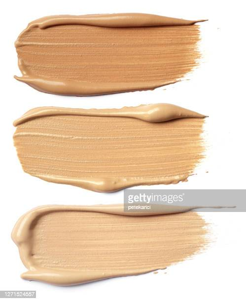 make-up foundation swatches - cream coloured stock pictures, royalty-free photos & images