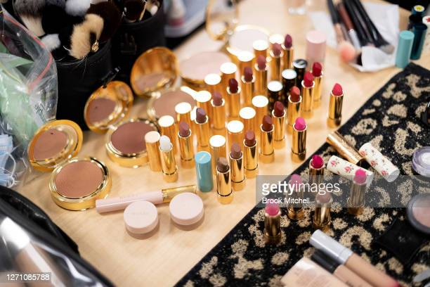 Makeup is seen backstage ahead of the David Jones SS20 New Dawn Season Launch at David Jones Elizabeth Street Store on September 07 2020 in Sydney...