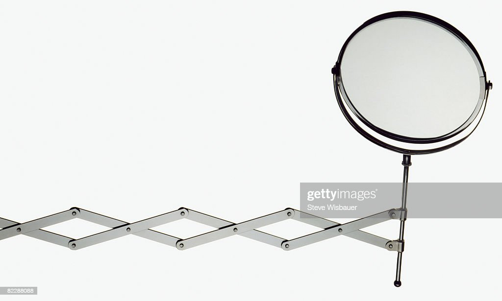 Makeup Mirror On Retractable Arm : Stock Photo