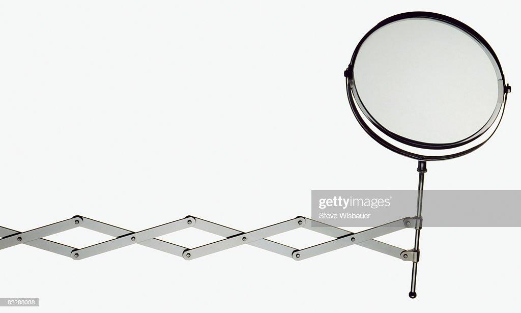 Makeup mirror on retractable arm : Stock Photo