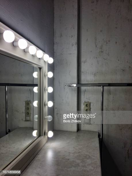 make-up mirror. - backstage stock pictures, royalty-free photos & images