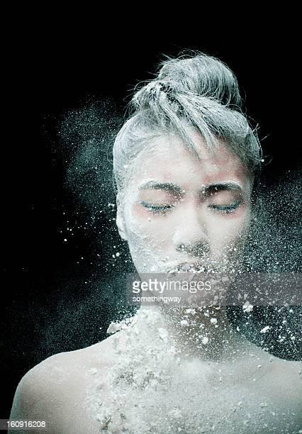 Make-up von asiatische Frau