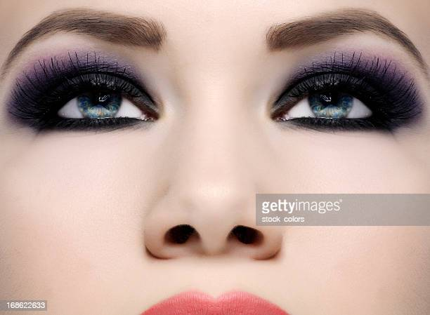 makeup - eye make up stock pictures, royalty-free photos & images
