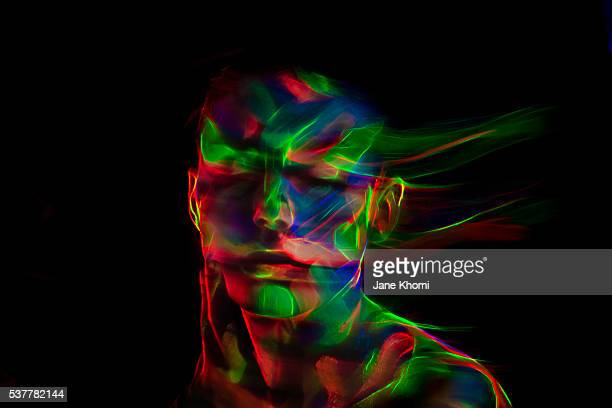 uv make-up - fluorescent light stock pictures, royalty-free photos & images