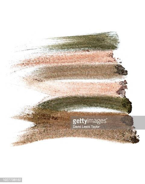 makeup swatches - eyeshadow stock pictures, royalty-free photos & images