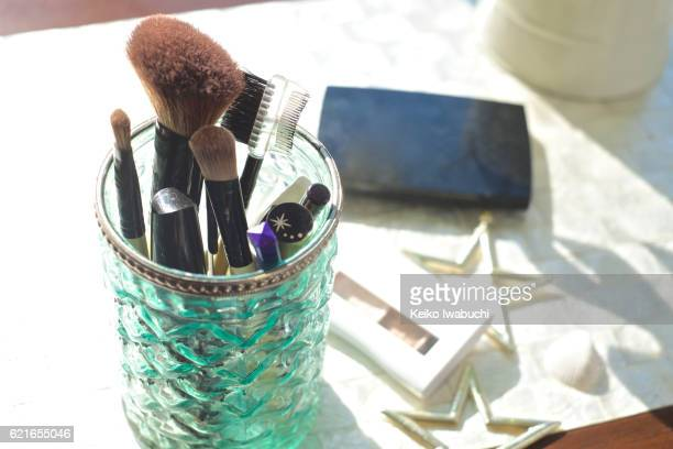 Makeup tool on the table