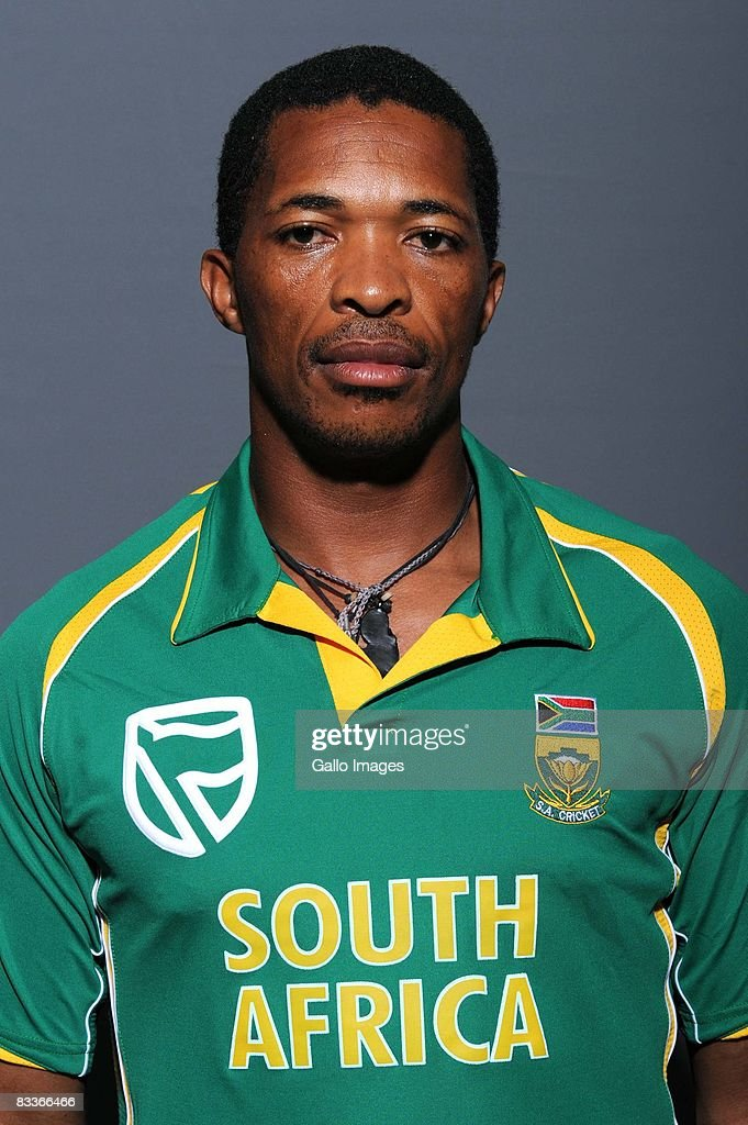 Makhaya Ntini poses during the South African One Day International team portait session at Grayston Southern Sun on October 20, 2008 in Johannesburg, South Africa.