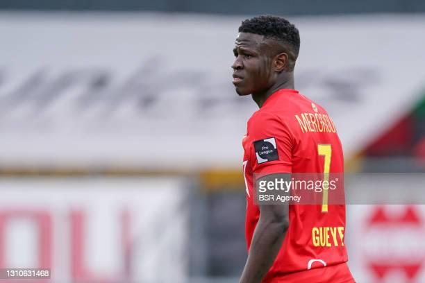 Makhtar Gueye of KV Oostende during the Jupiler Pro League match between KV Oostende and Waasland-Beveren at Diaz Arena on April 3, 2021 in Oostende,...