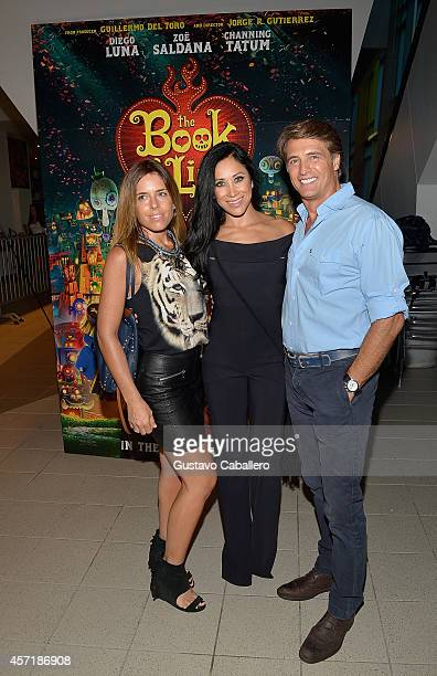 Maki SolerMonica Noguera and Juan Soler attends 'THE BOOK OF LIFE' Red Carpet at Regal South Beach 18 on October 13 2014 in Miami Florida