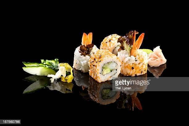 maki sushi california - sushi stock pictures, royalty-free photos & images