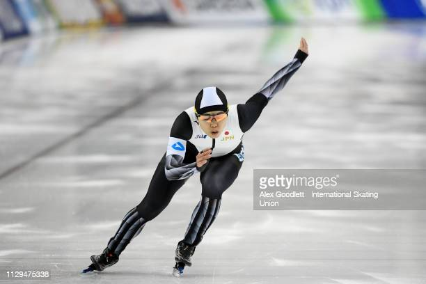 Maki Tsuji of Japan competes in the women's 500m duing the ISU World Cup Final at the Utah Olympic Oval on March 9 2019 in Salt Lake City Utah