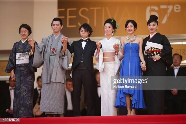 Makiko Watanabe Jun Murakami Nijiro Murakami Naomi Kawase Jun Yoshinaga and Miyuki Matsuda attends the 'Futatsume No Mado' premiere during the 67th...