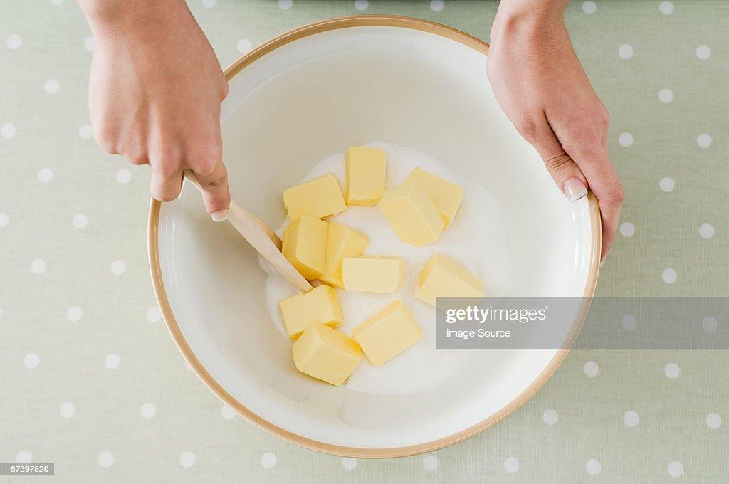 Making a cake : Stock Photo