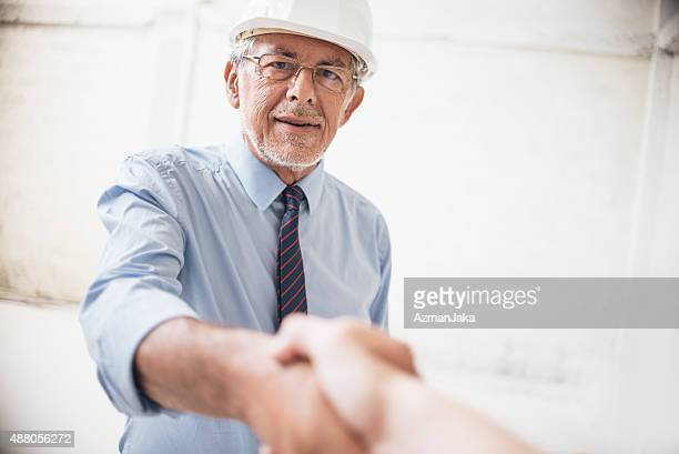 Making a deal on construction site