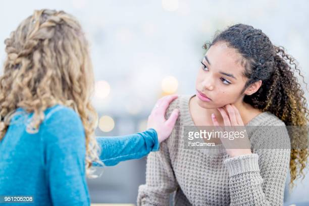 making a friend feel better - emotional support stock pictures, royalty-free photos & images