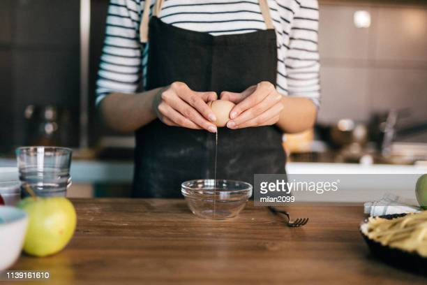 making a pie - egg white stock pictures, royalty-free photos & images