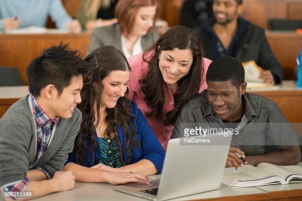 Making a Presentation on a Laptop