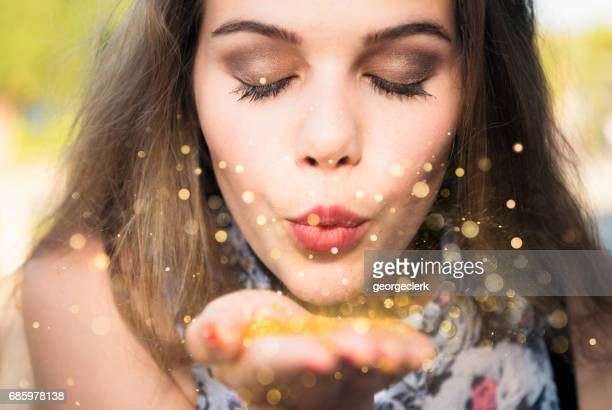 making a wish - luck stock pictures, royalty-free photos & images