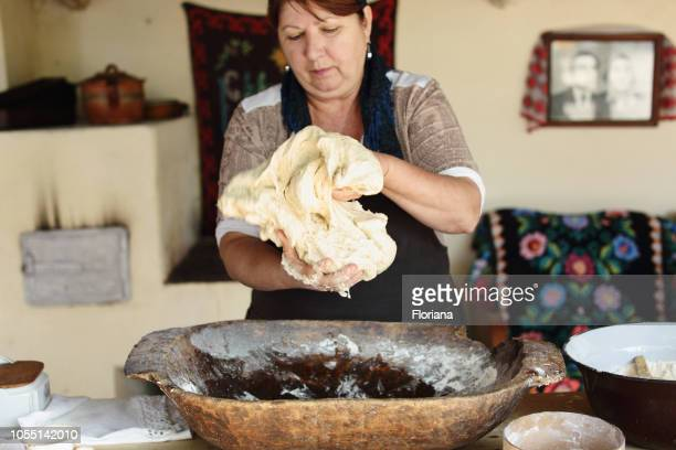 Making bread in traditional way