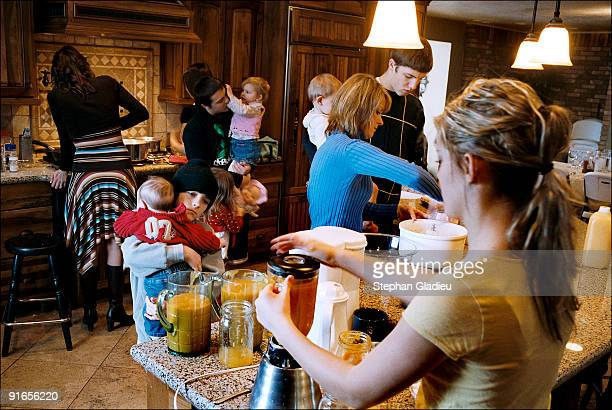 Making brunch in this polygamist family consisting of one father, three mothers and 21 children is a team work project Three dozen eggs are needed to...