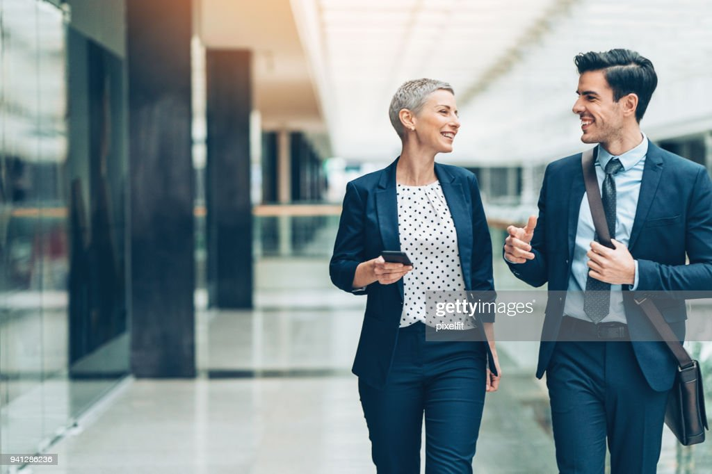 Making business together : Stock Photo
