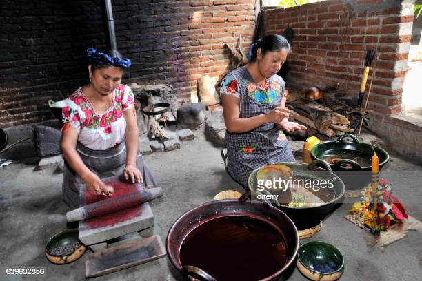 making candles in teotitlán - oaxaca stock pictures, royalty-free photos & images
