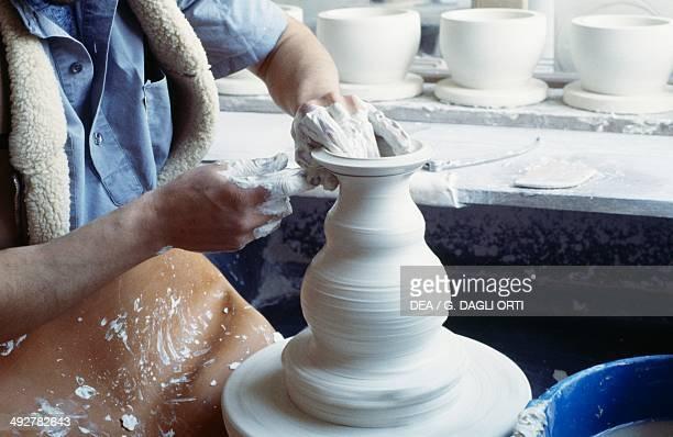 Making ceramics National factory of Sevres IledeFrance France