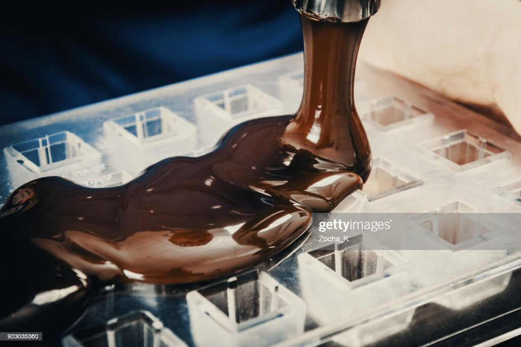 Making chocolate : Stock Photo