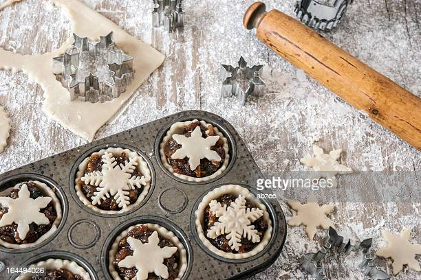 Making Christmas mince pies