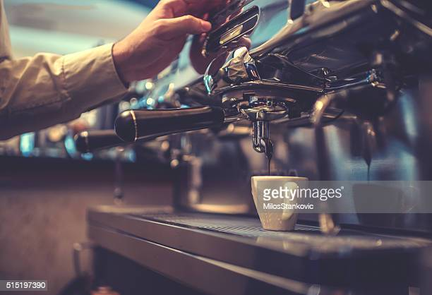 making coffee - coffee maker stock pictures, royalty-free photos & images
