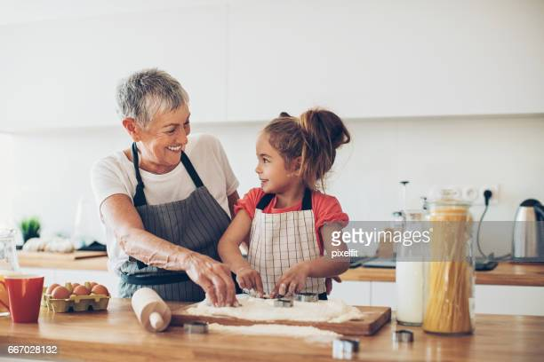 Making coockies with granny
