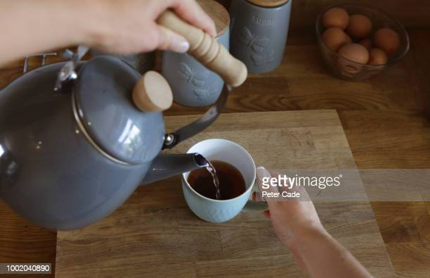 Making cup of tea