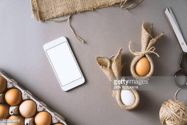 Making easter bunny eggs