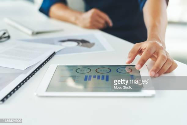 making finance a breeze with smart apps - chart stock pictures, royalty-free photos & images
