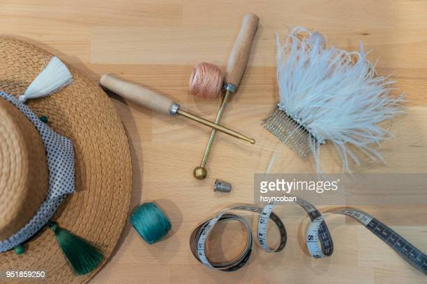 making hat - fascinator stock pictures, royalty-free photos & images