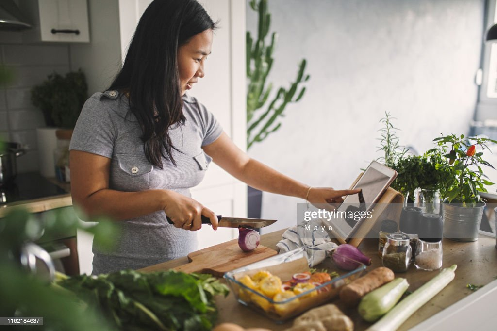 Making healthy meal : Stock Photo