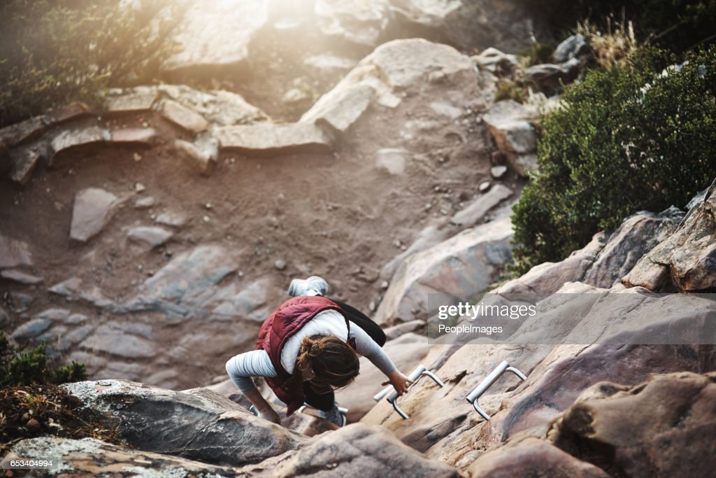 Making her way to the top : Stock Photo