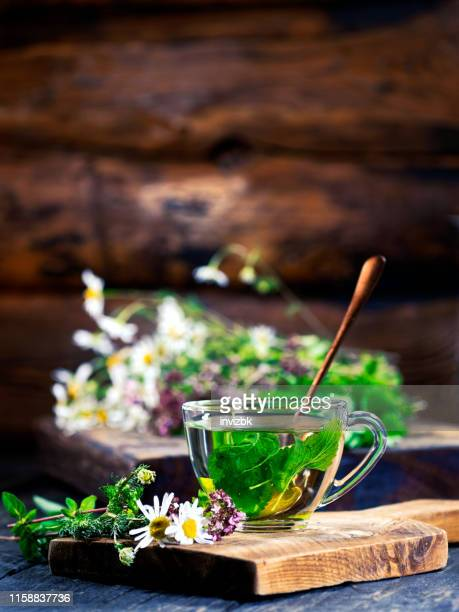 making herbal tea - herbal tea stock pictures, royalty-free photos & images