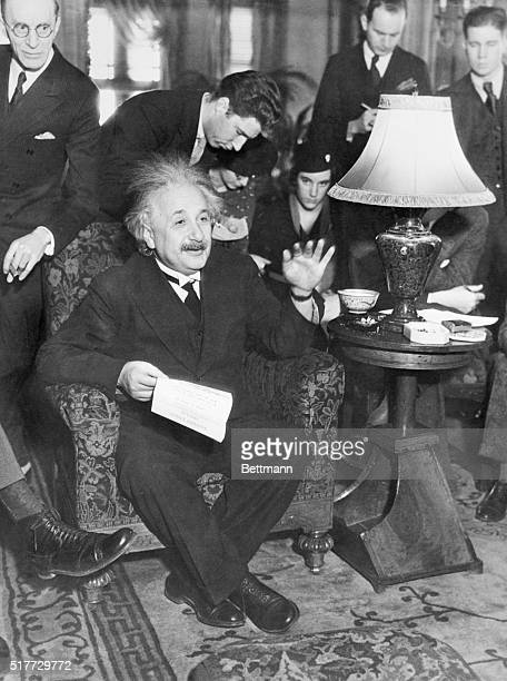 Making his first appearance before a scientific body Professor Albert Einstein delivered a lecture at the annual convention of the American...